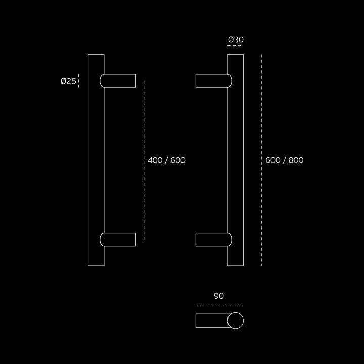 Manillon de puerta Ø30mm