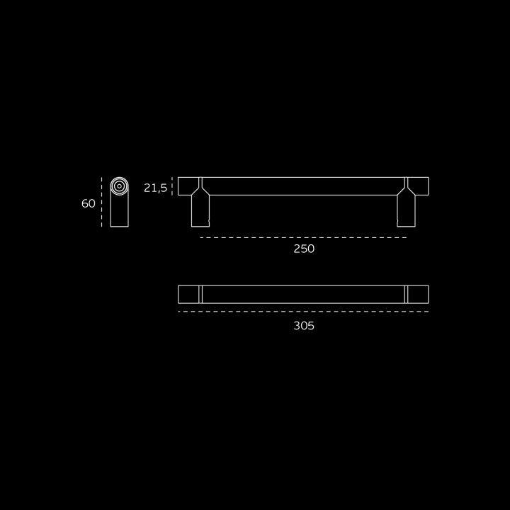 Manillon de puerta Wengé - Titanium Gold