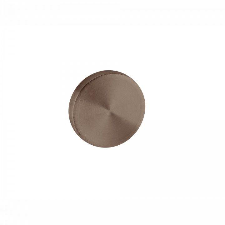 Entrada de chave cega com interior metálico - Ø50mm - TITANIUM CHOCOLATE