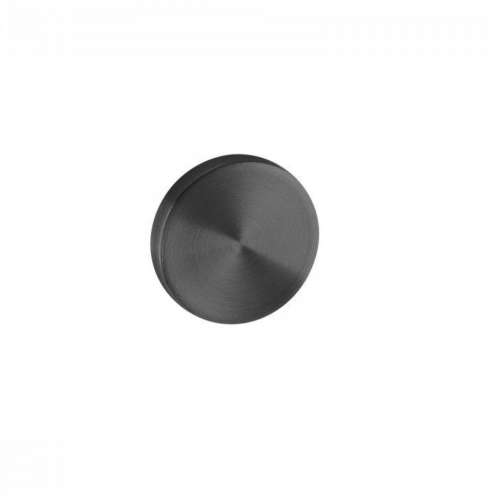 Entrada de chave cega com interior metálico - Ø50mm - TITANIUM BLACK