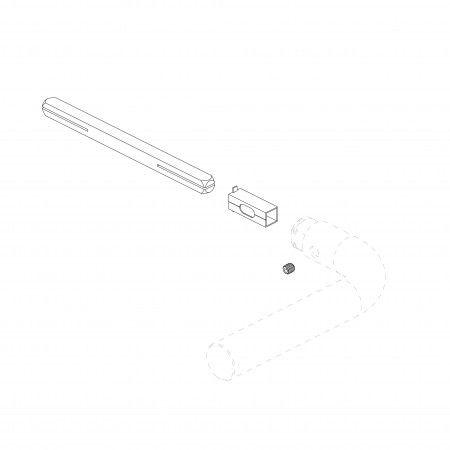 Kit quadra 7x7mm - 2 redutores