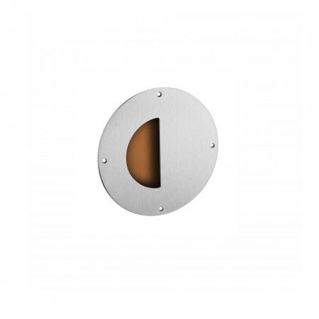 Flush handle with camel leather